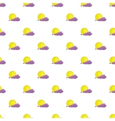 Full moon and cloud pattern cartoon style vector image