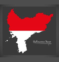 kalimantan barat indonesia map vector image vector image
