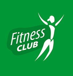 logo for fitness clubs on a green background vector image vector image
