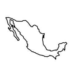 mexican map isolated icon vector image