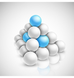 Pyramid of balls vector image vector image