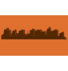 Silhouette of the ancient city vector image vector image