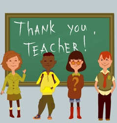 Thank you teacher vector image