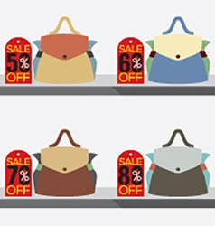 Women Bags With Sale Tags vector image vector image