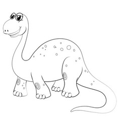 animal outline for brachiosaurus vector image vector image