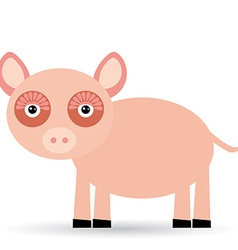 Cartoon of a pig on a white background vector image vector image