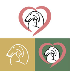 pets care dog and cat vector image
