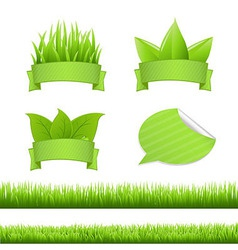 Set Grass vector image