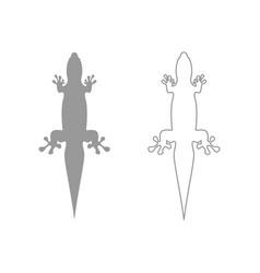 lizard set icon vector image