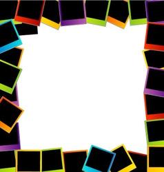 Polaroid frame- colorful polaroids vector image vector image