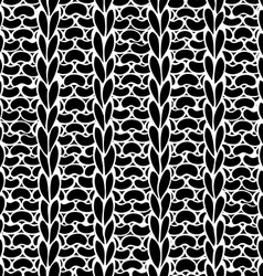 Seamless Ribbing Stitch silhouettes pattern vector image vector image