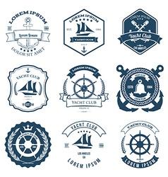 Set of Yacht Club Labels Design Elements vector image