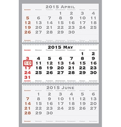 2015 may with red dating mark vector