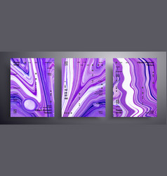 Abstract acrylic poster fluid art texture vector