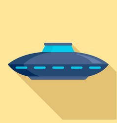 alien ship icon flat style vector image