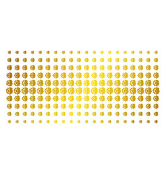 android robotics golden halftone array vector image