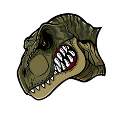 Angry T Rex Head vector