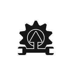 arrow configuration gear repair tool repair vector image