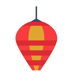 asian paper lantern or lamp icon vector image