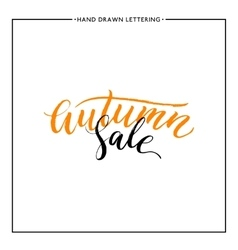 Autumn sale lettering vector