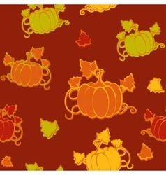 Autumn seamless pattern with pumpkin vector