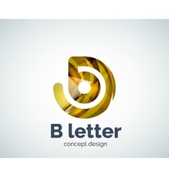 B letter concept logo template vector