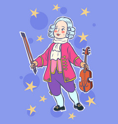 baby violinist musician little mozart vector image