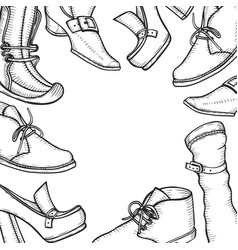 background for the shoe store vector image