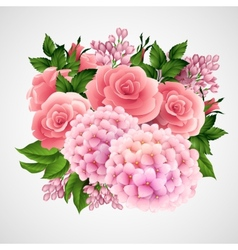 background with a beautiful flower vector image