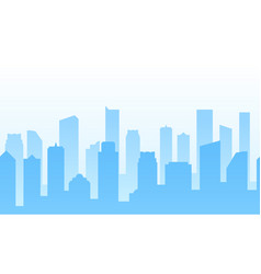 Background with city for web site footer or vector