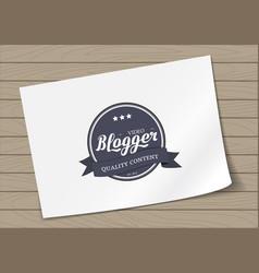 badge emblem design vector image