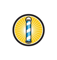 Barber Pole Circle Retro vector