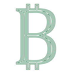 Bitcoin internet virtual cryptocurrency symbol vector