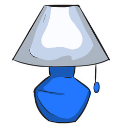 blue lamp on white background vector image