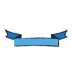 blue ribbon banner blank decoration element vector image