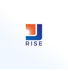 Business rise logo design template vector