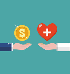 businessman paying money for health vector image