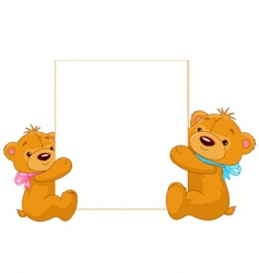 Cartoon teddy bears vector