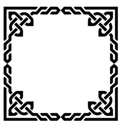celtic braided frame design irish border vector image