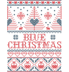 Christmas pattern blue christmas carol vector