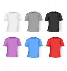color and white t-shirt design vector image