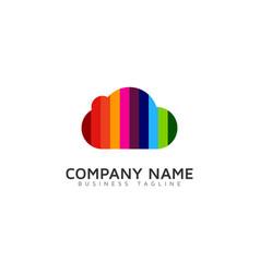 color cloud logo icon design vector image