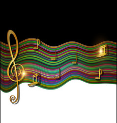 Color patterned image of music vector