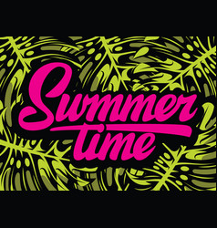 color template for summer time party with vector image