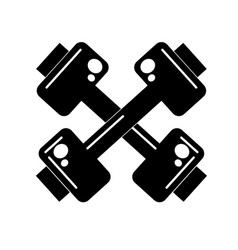 contour dumbbells instrument to do exercise in the vector image