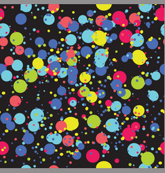 contrasty seamless pattern with brigh paint spots vector image