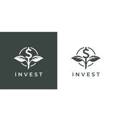 finance investment logo icon vector image