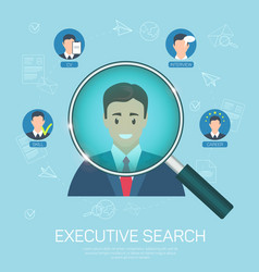 flat banner executive search success closing job vector image