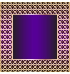 Frame with golden mesh vector image