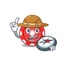 Gambling chips stylized explorer having a compass vector